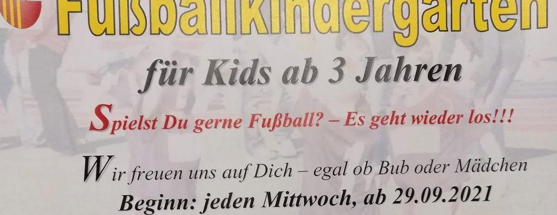Fußballkindergarten für alle Kids ab 3 Jahren